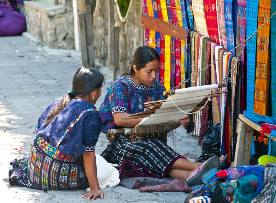 Guatemalan culture of weaving