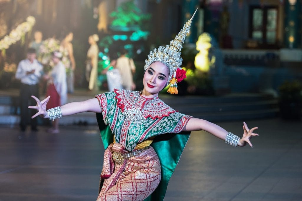 Lady enjoy dancing in Thailand