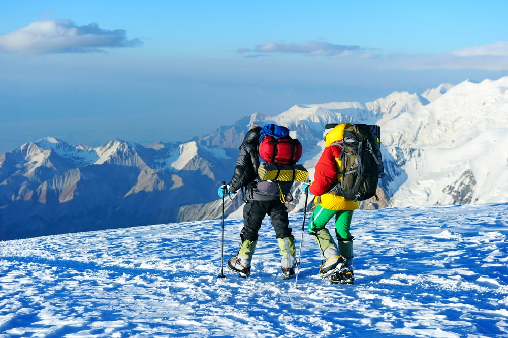 men on hiking trail