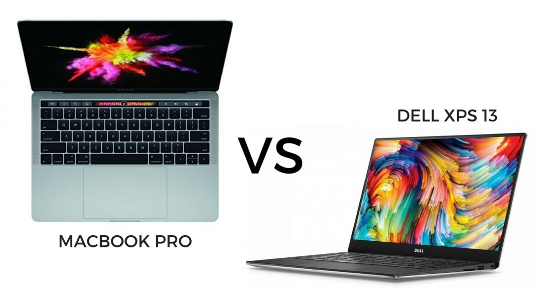 Macbook Pro vs Dell XPS 13 comparison for the best travel laptops