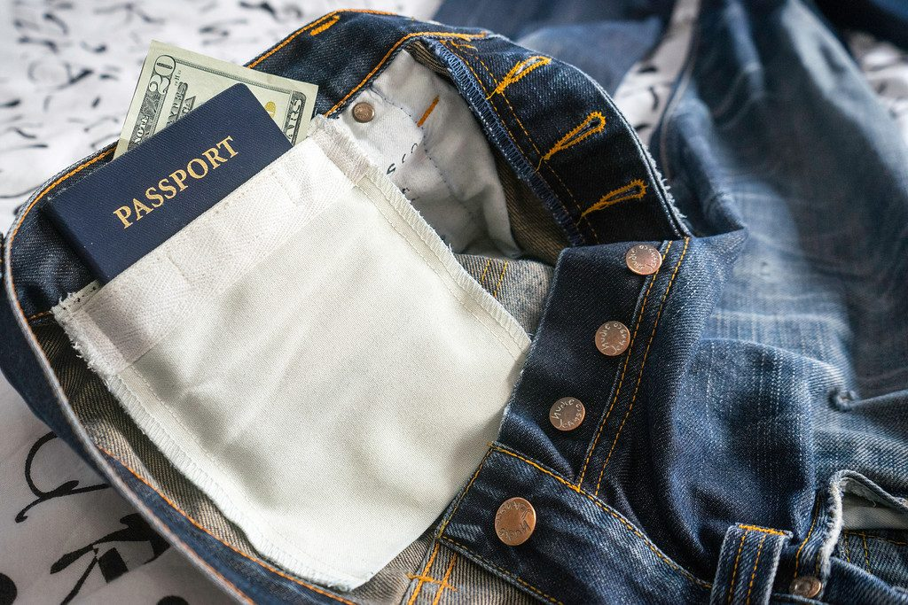 Hidden jean pockets are best way to travel with money