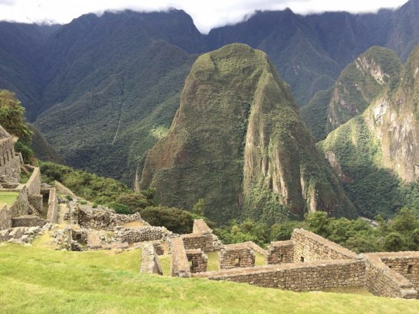 Machu Picchu ruins and mountain
