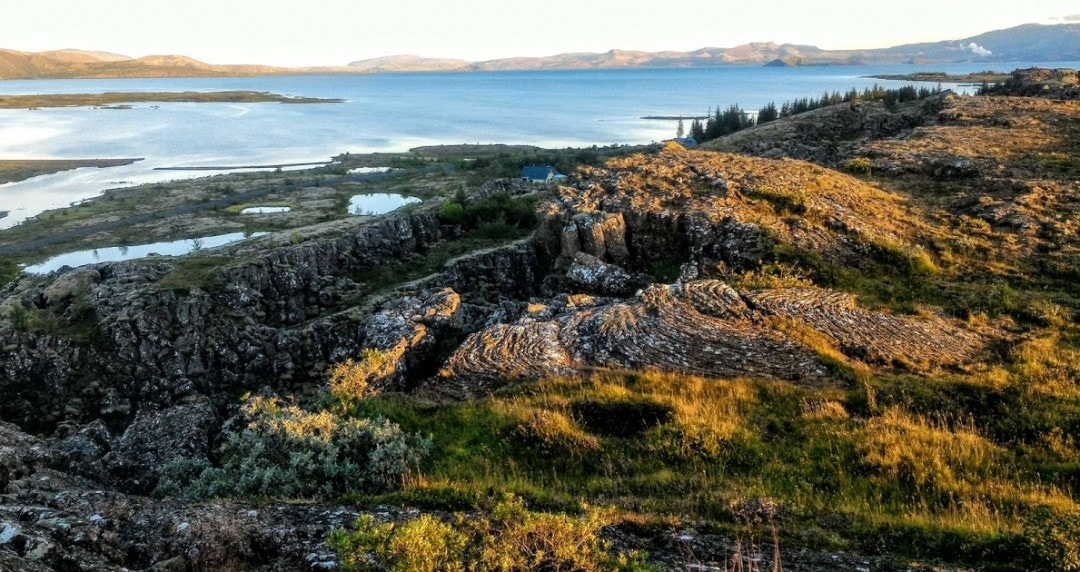 The view at Þingvellir National Park, Iceland