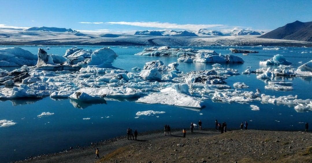 Glacier Lagoon on a sunny day