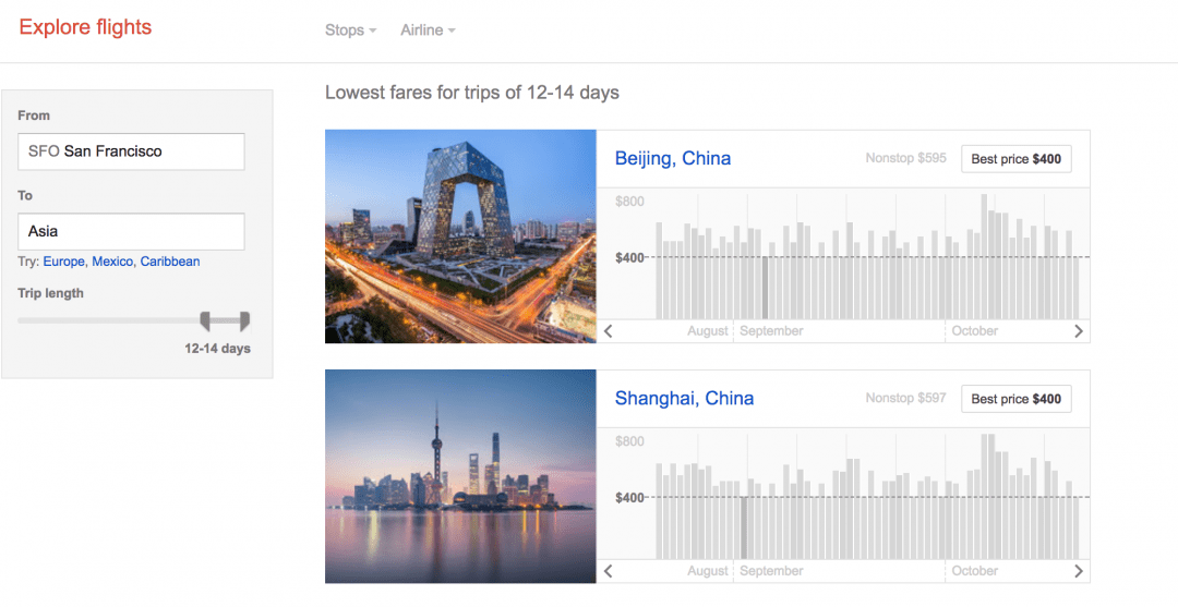 find cheap airfare with google explore flights