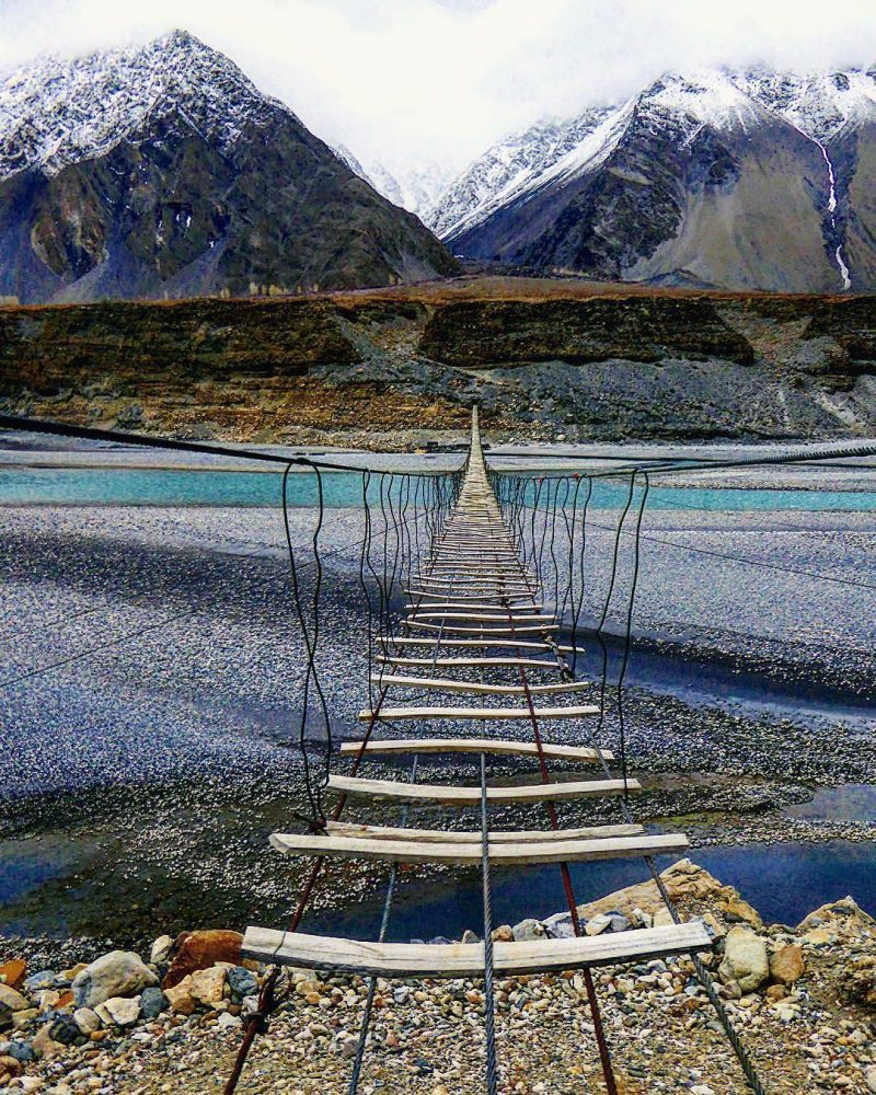 Get to cross this bridge on a hike