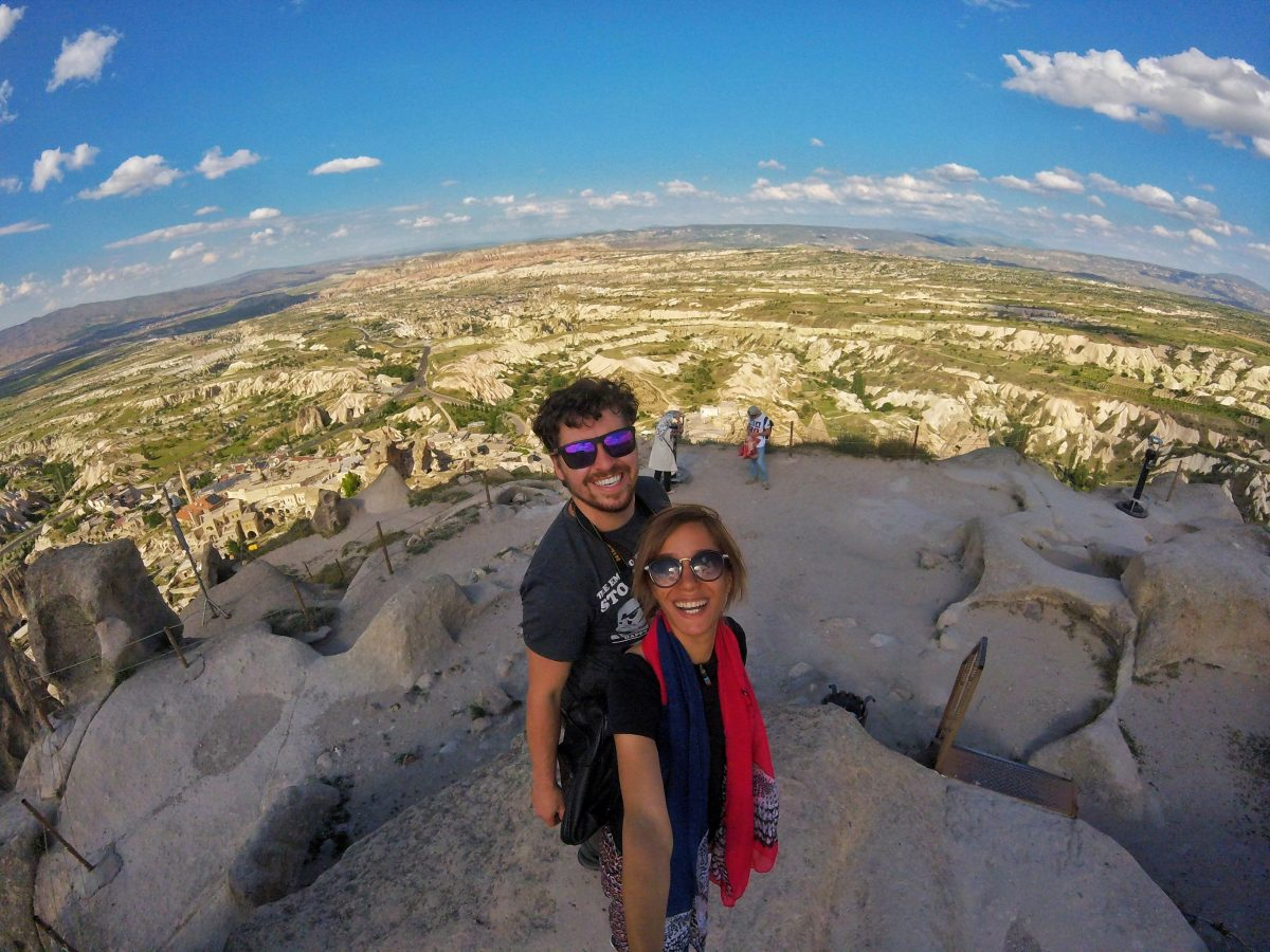Esme and I hanging out in Cappadocia, Turkey.