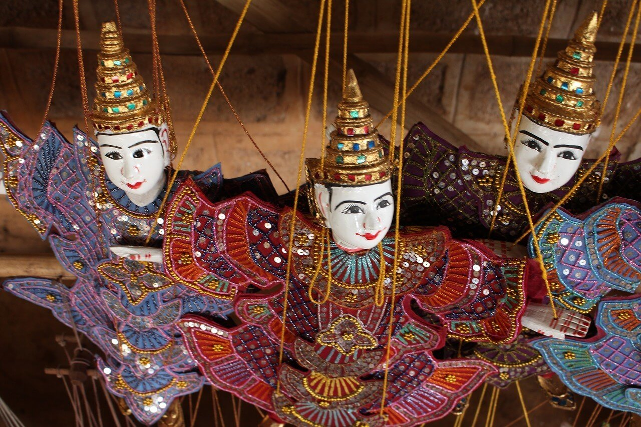 Htwe Oo traditional puppet theatre