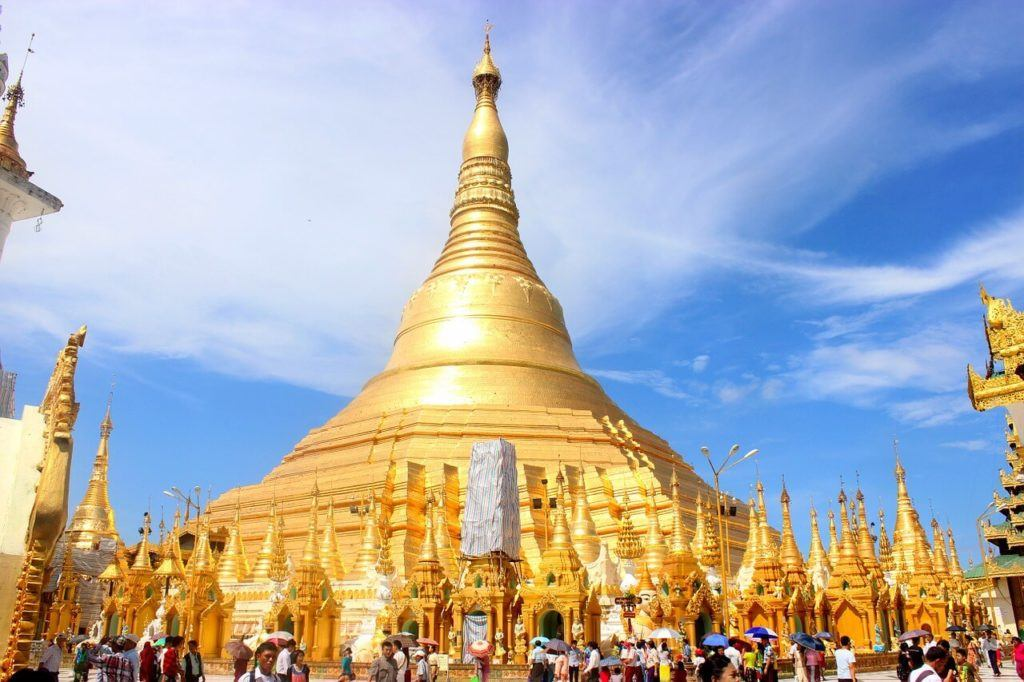 Shwedagon Pagoda - most famous tourist attraction in Yangon and Myanmar