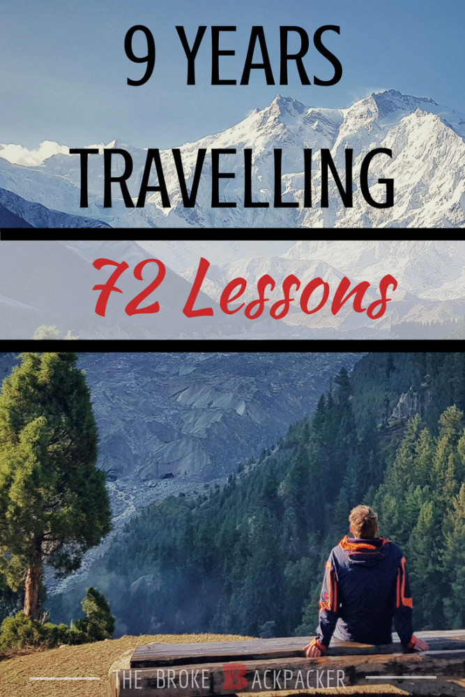 72 lessons from 9 years travelling pinterest image