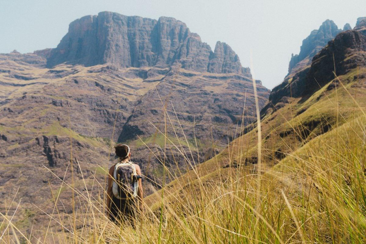 Backpacking south africa Drakensberg