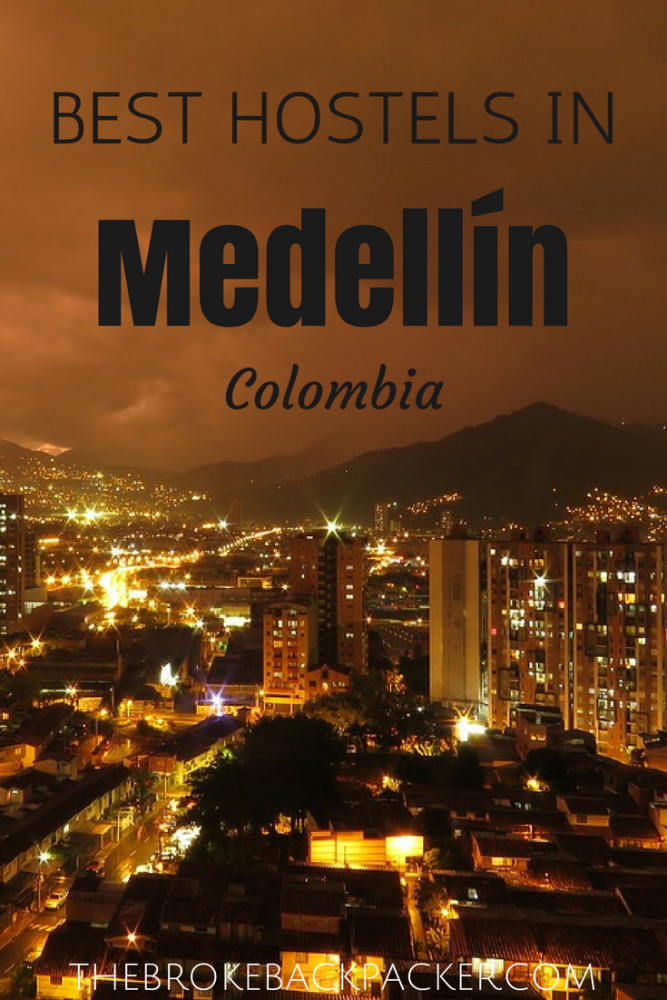 Best hostels in Medellin pinterest image