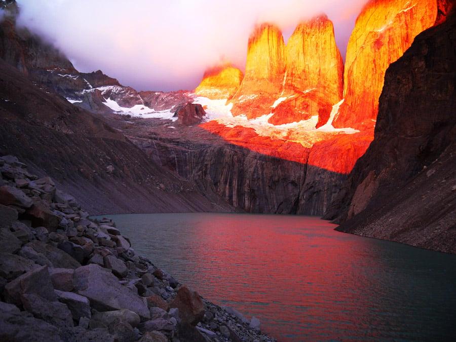 Torres Del Paine hiking in Patagonia