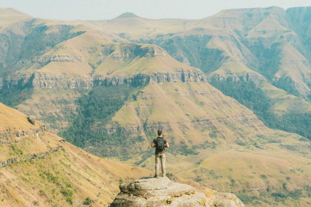 Hiking around Drakensberg south africa