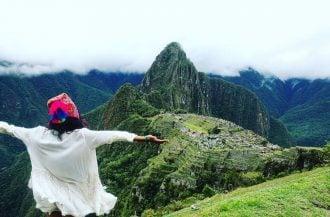 Epic photo at Machu Picchu ruins