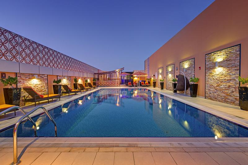 Abidos Hotel Apartment Dubailand best hostels in Dubai