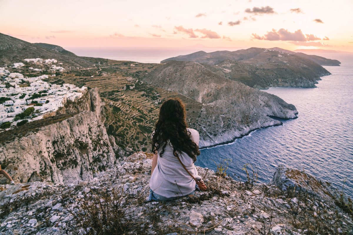 Watching the sunset on Folegandros Island