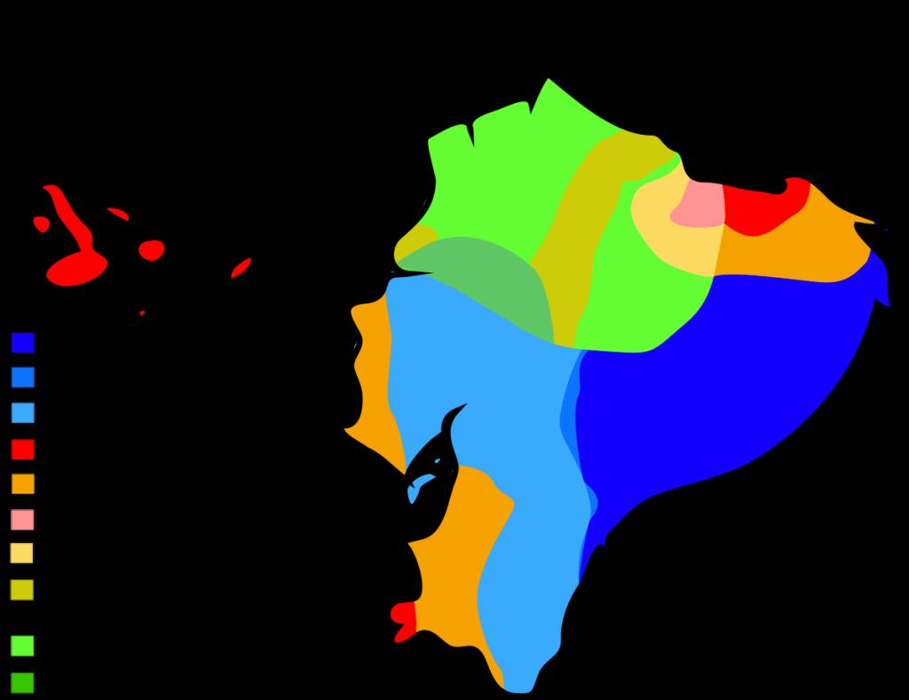 map of ecuador climate