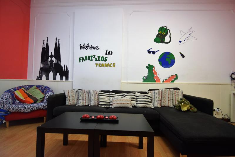 Best Cheap Hostel in Barcelona #1- Fabrizzios Terrace Youth Hostel