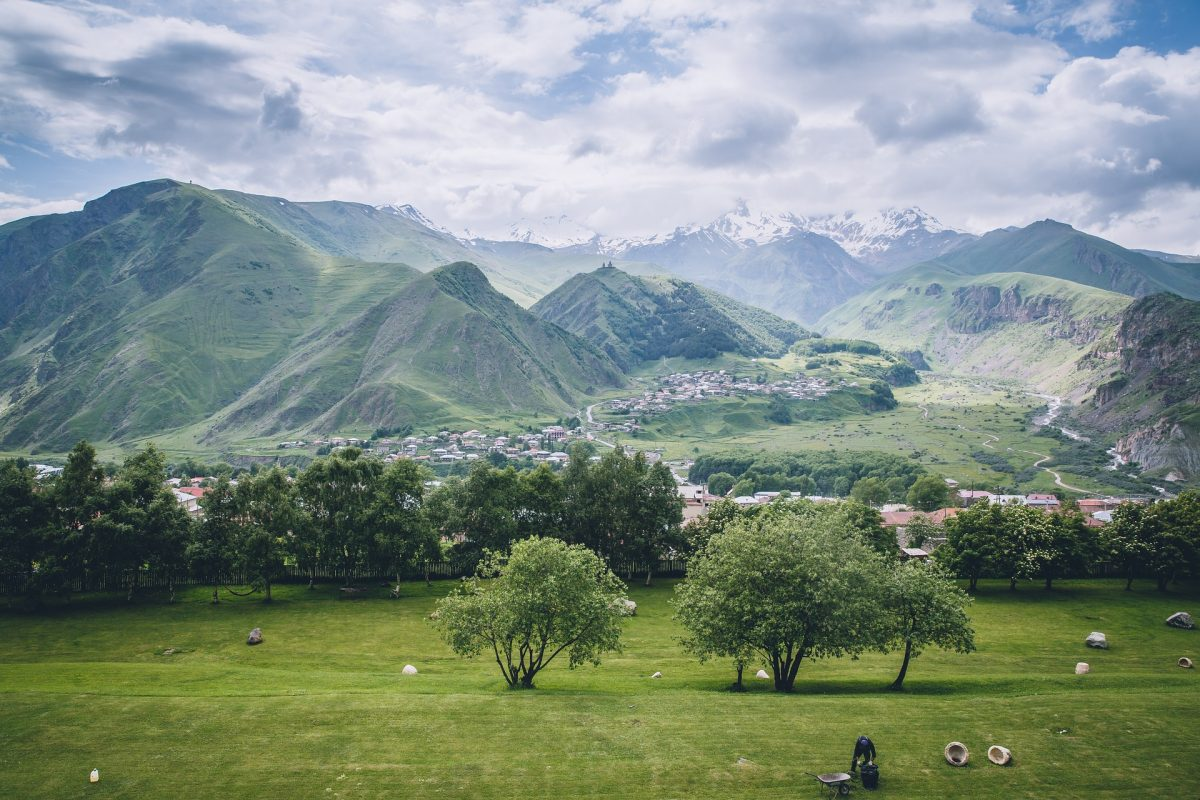 Green Meadows of Kazbegi Backpacking Georgia