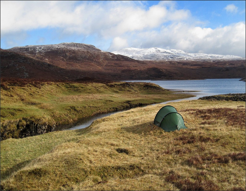 backpacking Scotland camping
