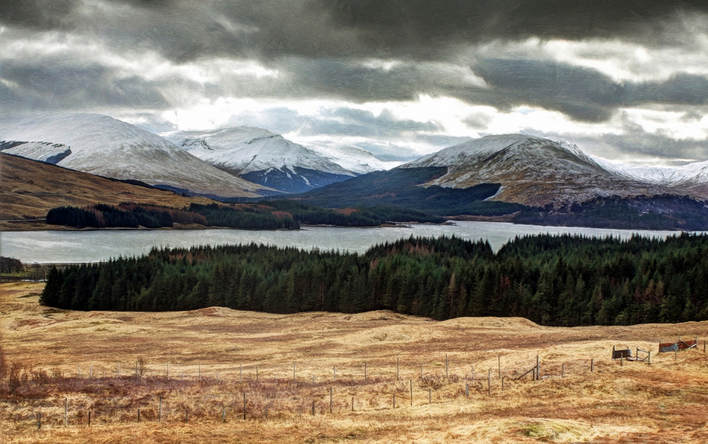 scottish highland hiking
