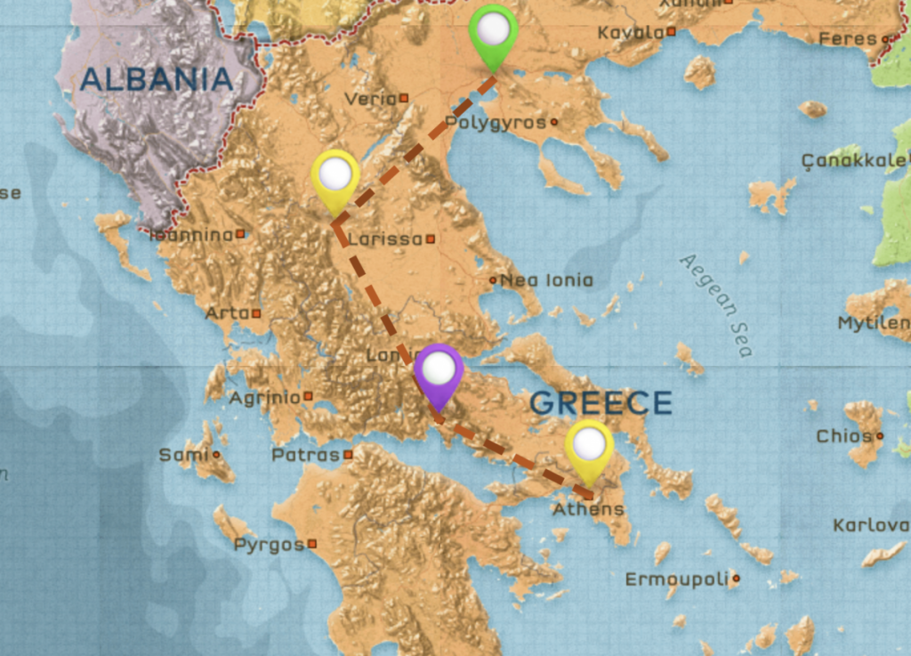 backpacking greece route western cyclades