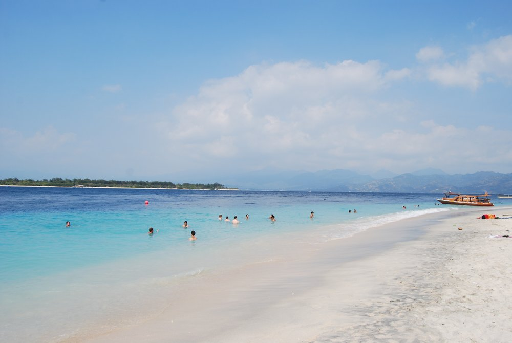 The Gili Islands off the coast of Lombok.