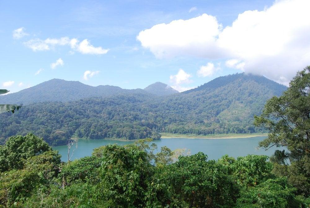 Hiking in Indonesia.