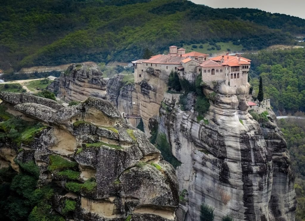 A beautiful monastery on a rock in Meteora - best sightseeing in Greece