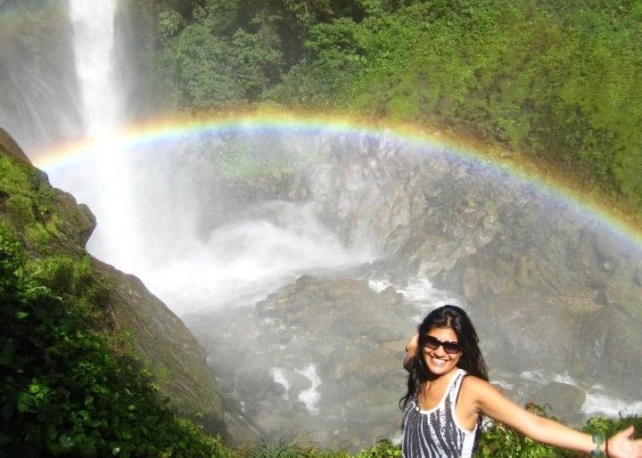 waterfalls and rainbows of Ecuador