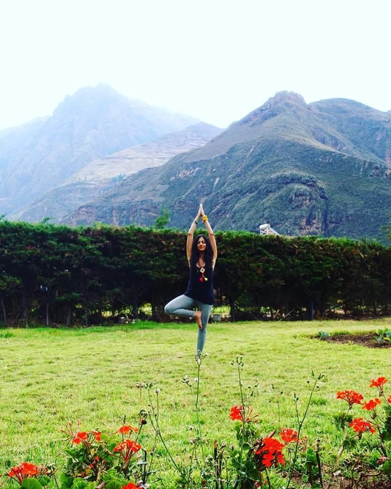 Doing yoga in Cusco's Sacred Valley