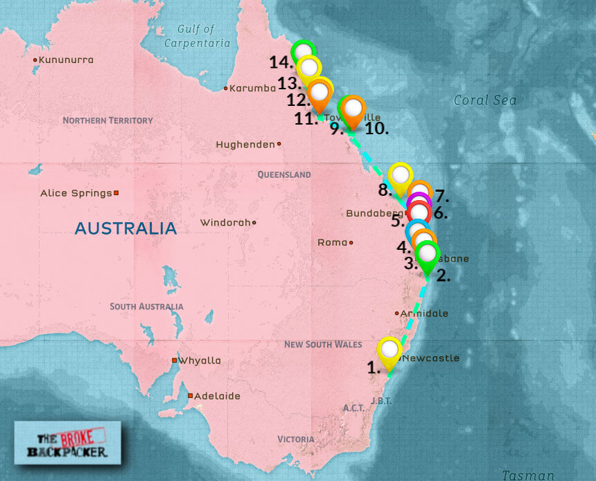 Backpacking East Coast Australia