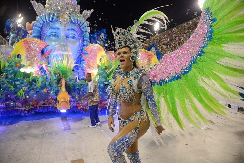 Elaborate costume of Carnaval Brazil