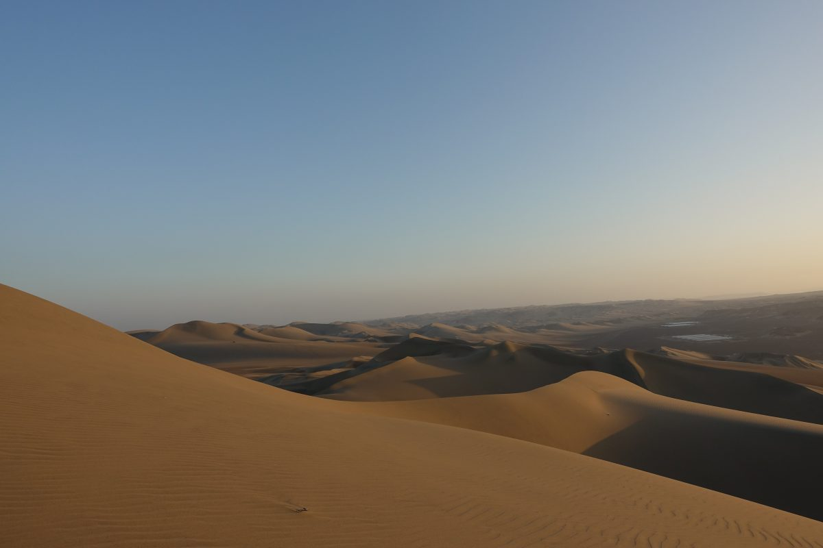 The sands of Huacachina desert in Peru