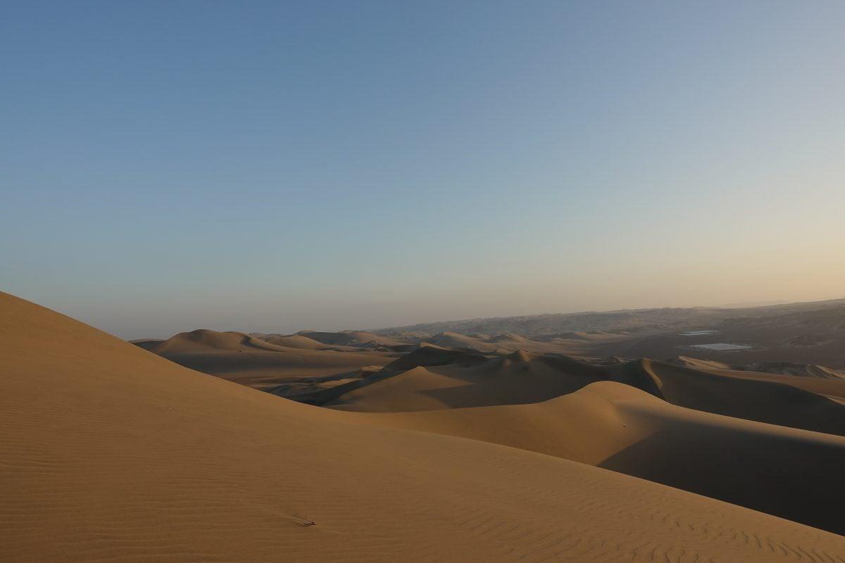 The sands of Huacachina desert in Peru