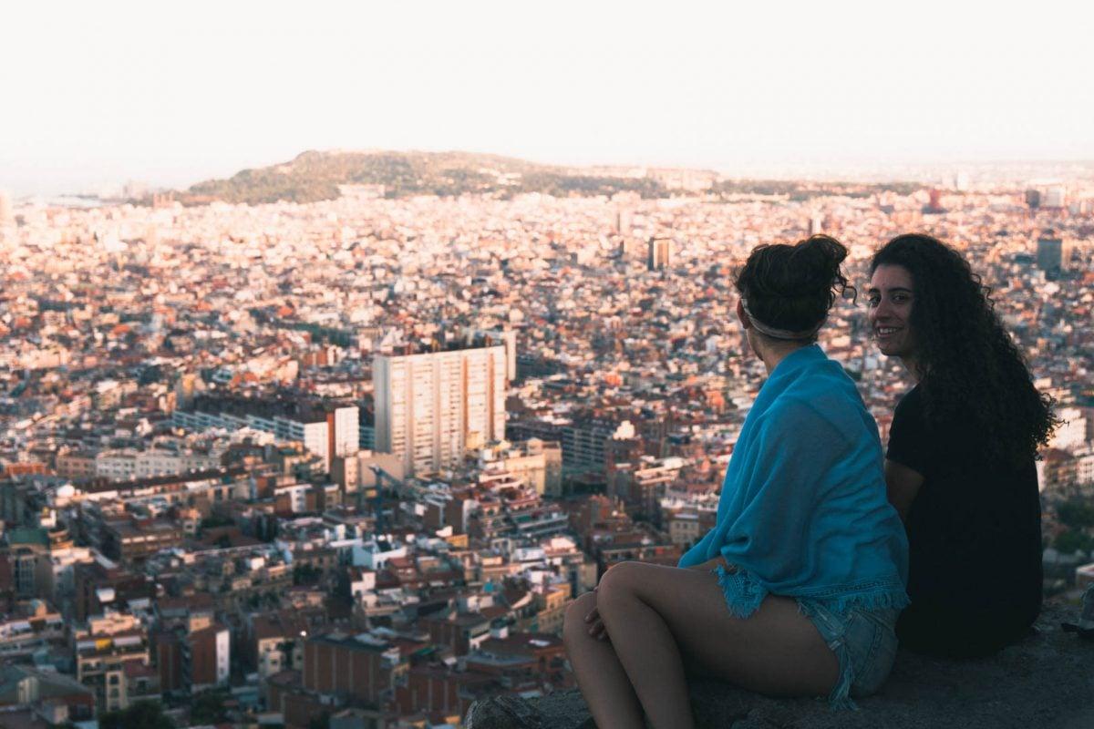 best views in barcelona spain bunkers