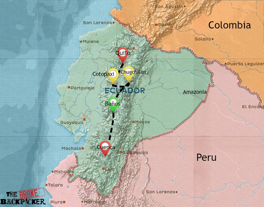 Ecuador backpacking itinerary