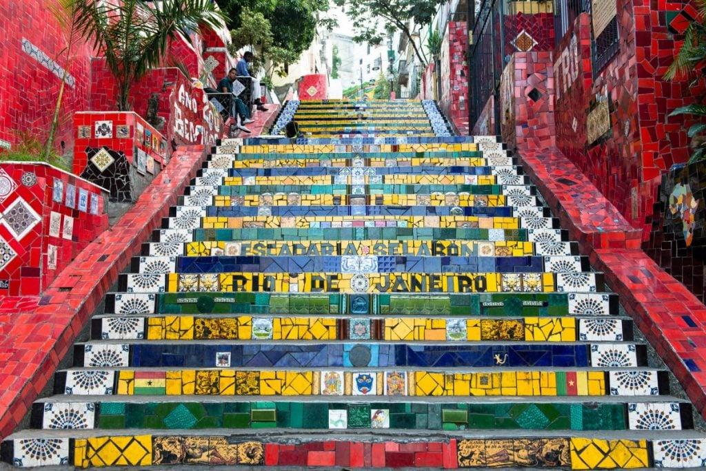 Escadaria Selaron in Lapa district of Rio de Janeiro Brazil