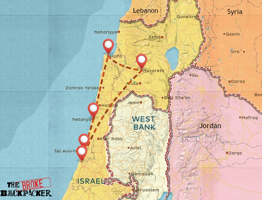 Israel travel itinerary