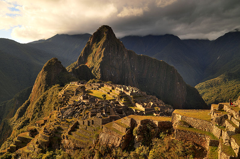 Backpacking in Machu Picchu and hiking the Inca Trail at sunset
