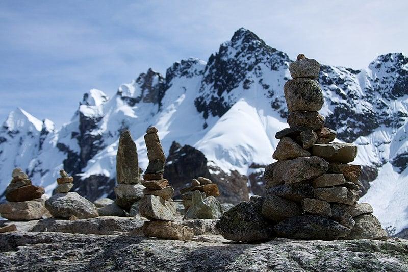 Salkantay Trek Peru - rocks in the Andes