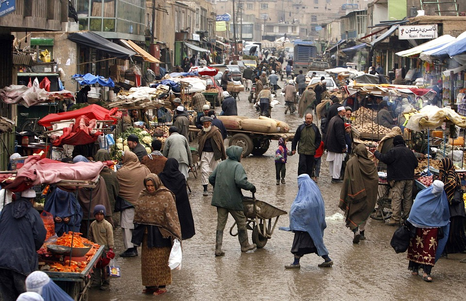 A marketplace in Afghanistan
