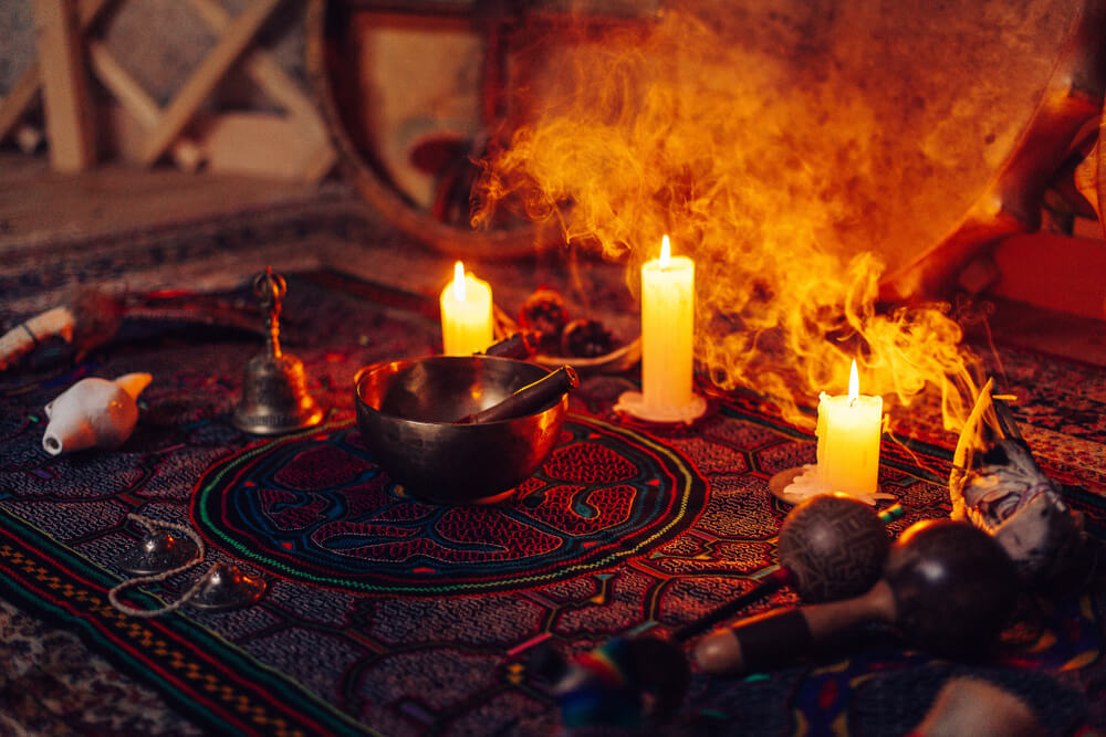 A shamanic ritual in Peru