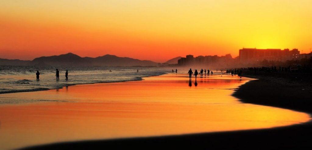 Sunset on a Brazilian Beach Rio de Janeiro