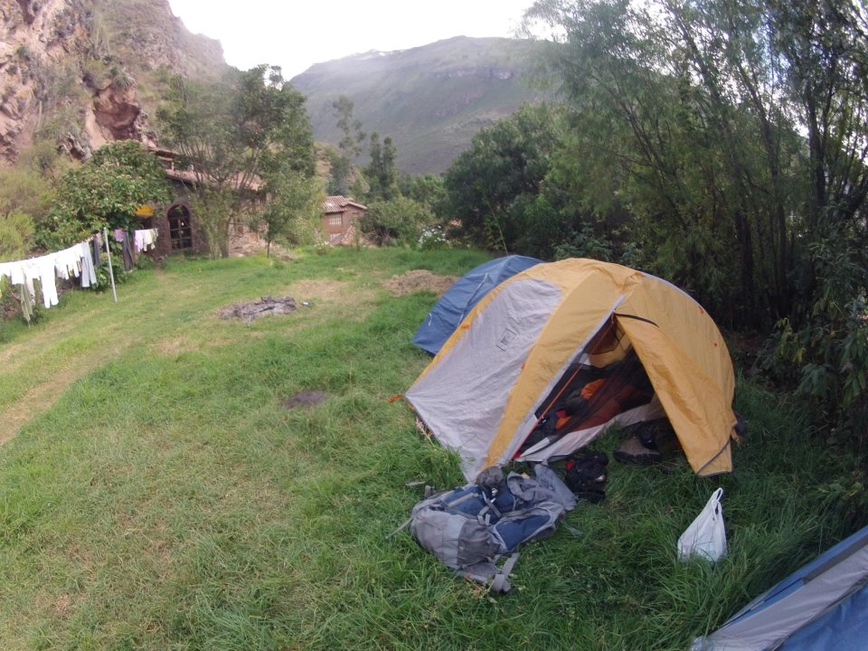 Camping in Peru at Pisac