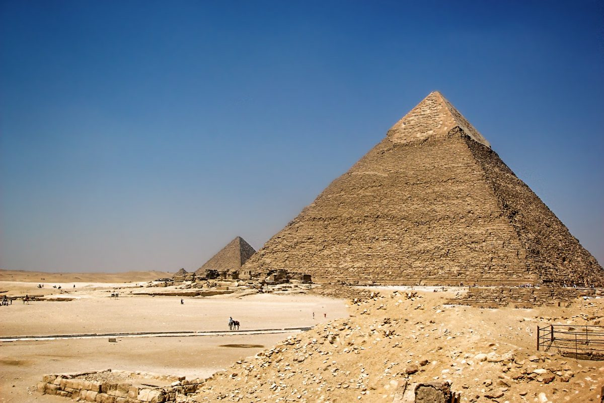 The Pyramids at Giza - a safe to travel to place in Egypt