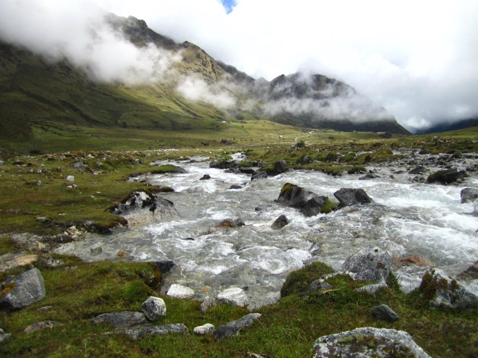 trekking in the andes mountains