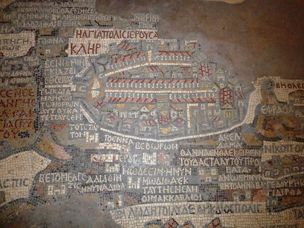 madaba map - an historical attraction in Jordan