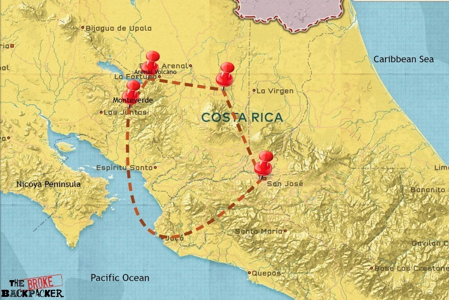costa rica backpacking itinerary